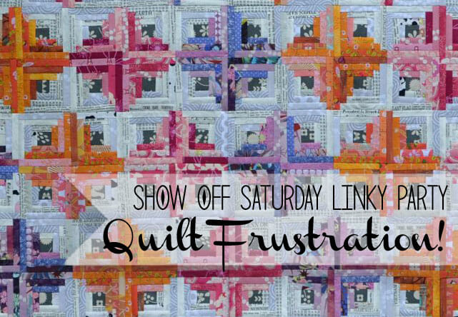 Quilt fail: I don't like my log cabin quilt top!