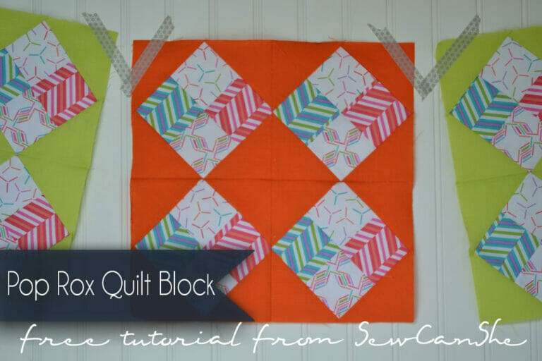 A modern quilt block inspired by an Amish Quilt: The Pop Rox Quilt Block! (free pattern)