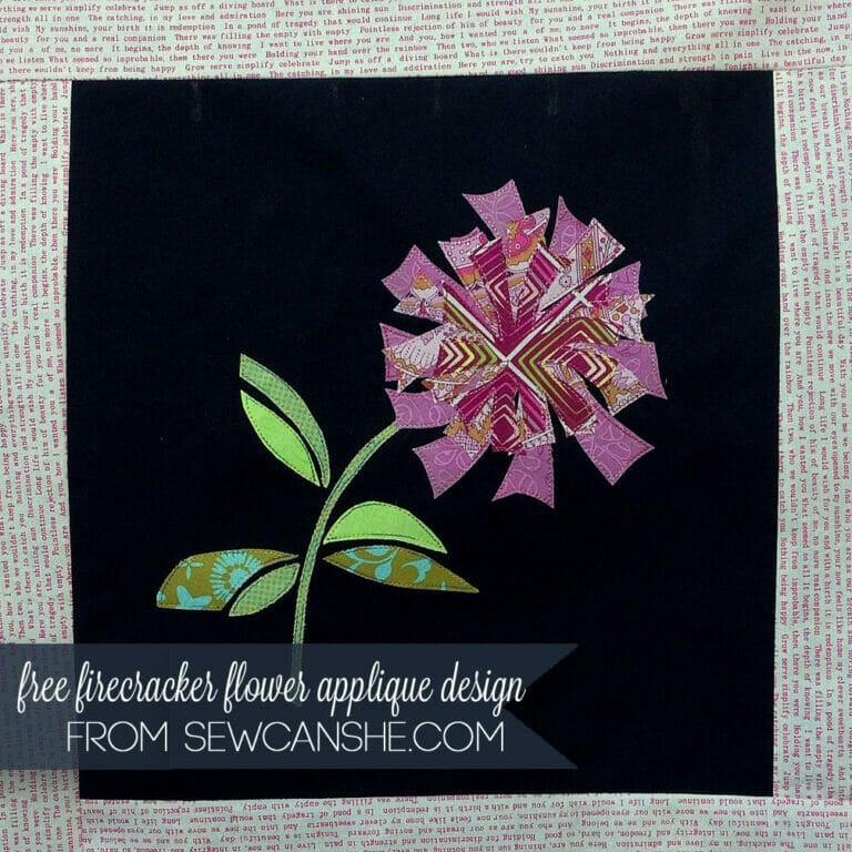 Free Flower Applique Pattern