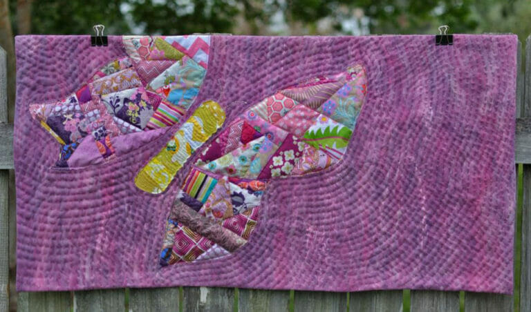 Sewing an Art Quilt with Hand Dyed Batting and Hand Quilting