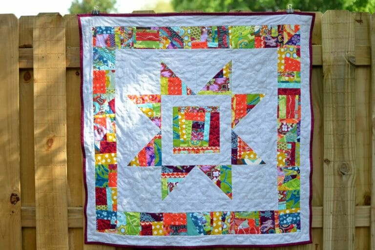 An Improv Star Quilt Inspired by the Book 15 Minutes of Play by Victoria Findlay Wolfe