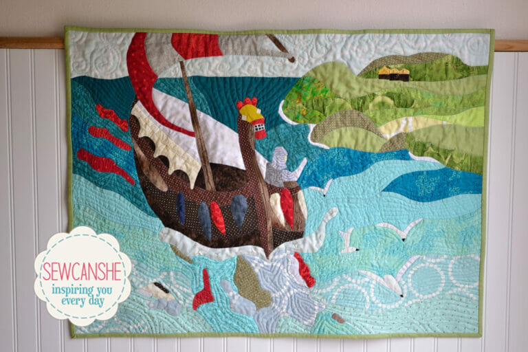 See my Viking Art Quilt based on a Painting by Nicholas Roerich