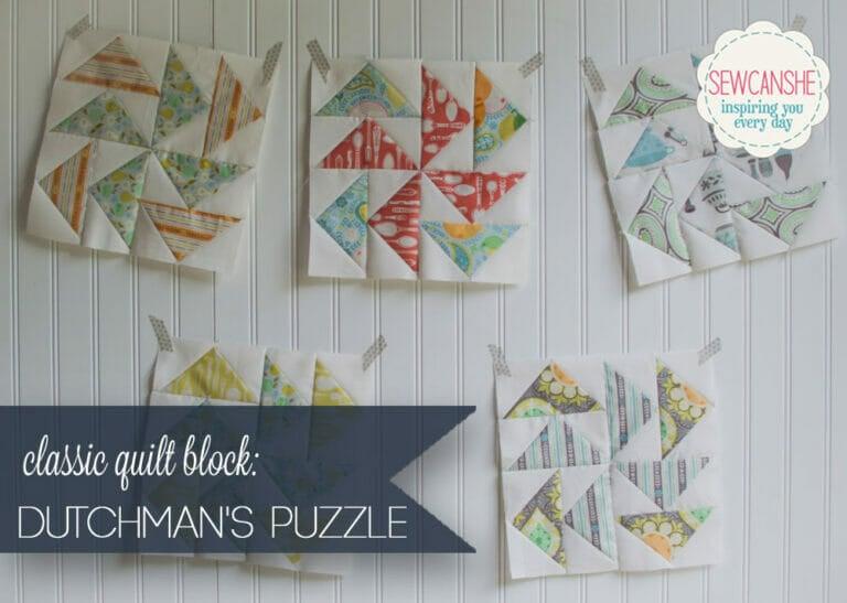 Easy Quilt Block Tutorial: the Dutchman's Puzzle Block