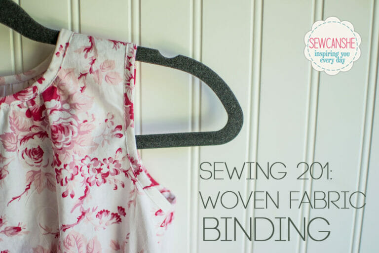 Sewing 201: Woven Fabric Binding… pretty and crisp
