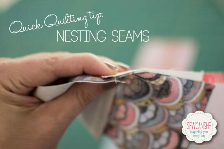 Quick Quilting Tip: Nesting Seams