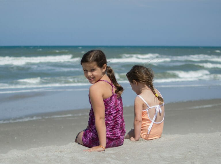 Pattern Review: Sewing Peek A Boo Swimsuits for my girls