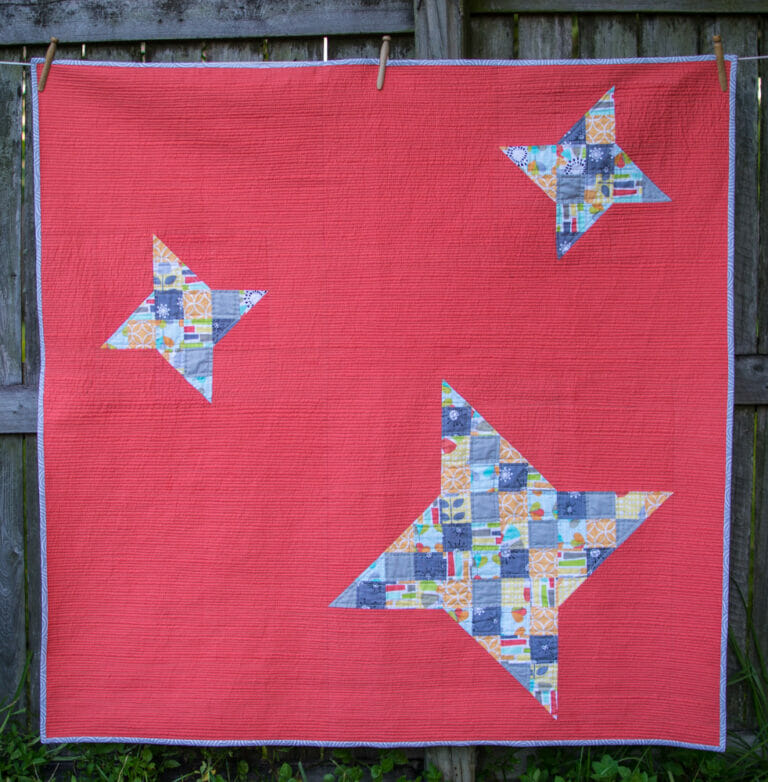I finally finished my Modern Stars Quilt with Matchstick Quilting!