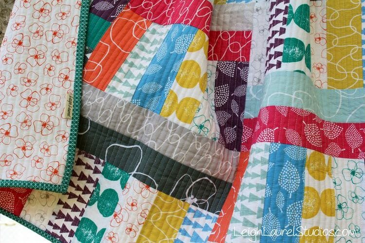 How to Sew Two Jelly Roll Baby Quilts at once!