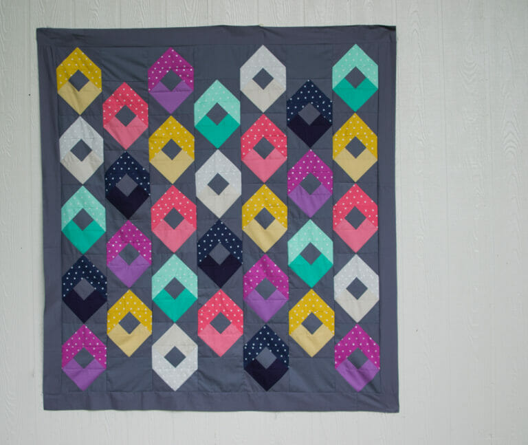 Sewing the Raindrops Quilt from the Book Fat Quarter Style