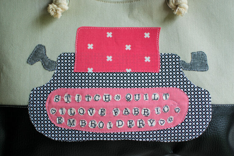 The Texty Typewriter Adorable Applique Pattern
