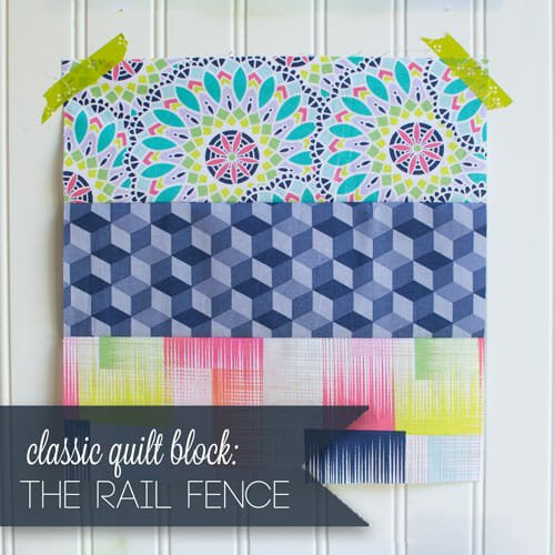 Easy Quilt Block Tutorial: the Rail Fence Block