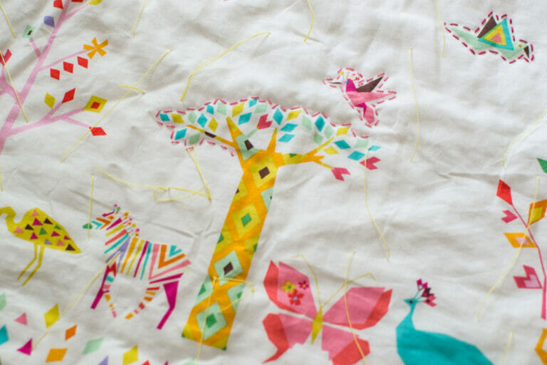 Easy Hand Quilted Baby Quilt {a WIP}