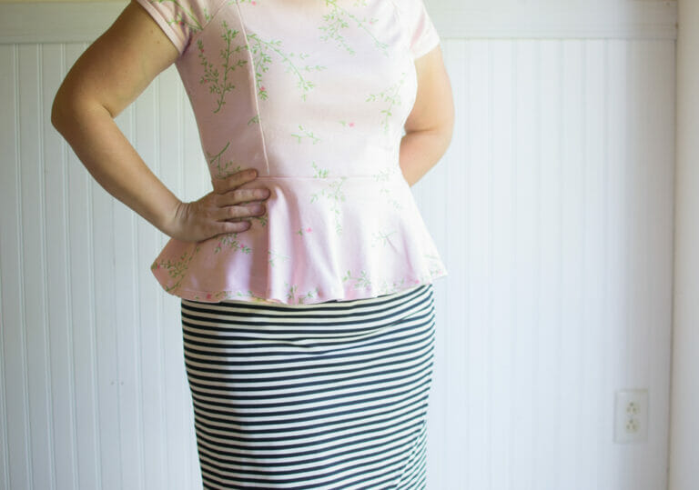 Pink Peplum Top #2 from Mccalls M6754 (why you should try a pattern at least twice)