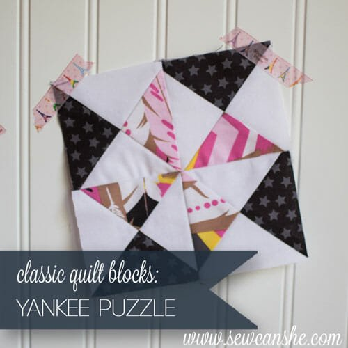 Free Classic Quilt Block Pattern: the Yankee Puzzle