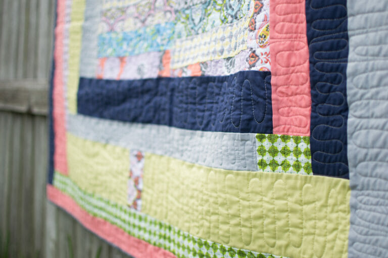 I finished by Gee's Bend Inspired Wonky Quilt