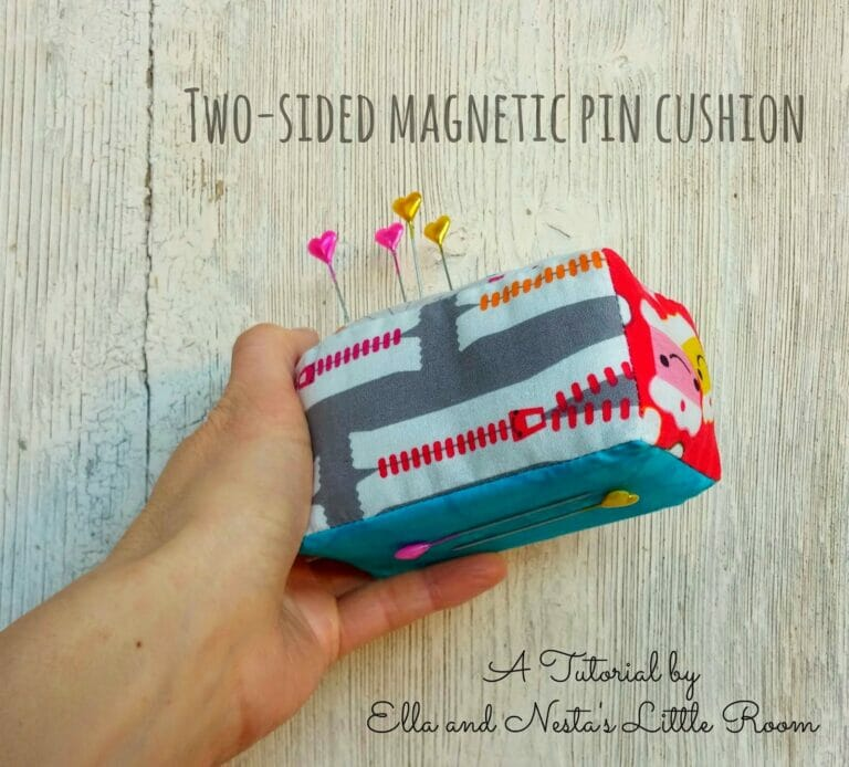 How to Sew a Boxy Magnetic Pin Cushion