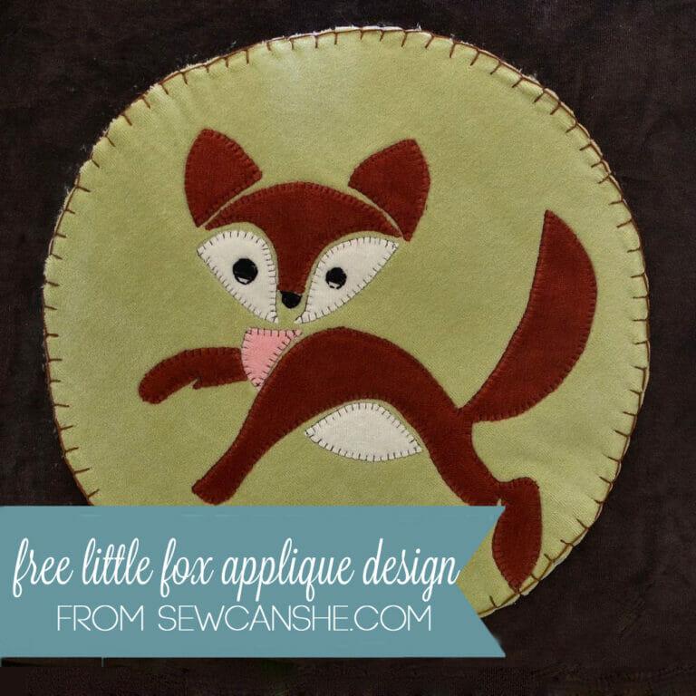 Free Little Fox Applique Pattern