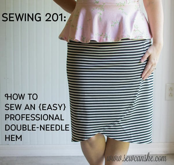 How to sew a with a Double Needle (almost any sewing machine)