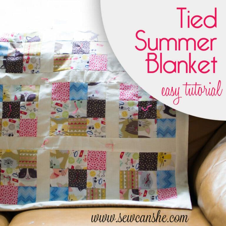 Tied Summer Blanket {easy tutorial}