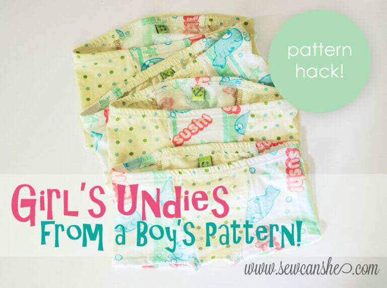 How to Sew Girl's Undies from a Boy's Pattern {pattern hack!}