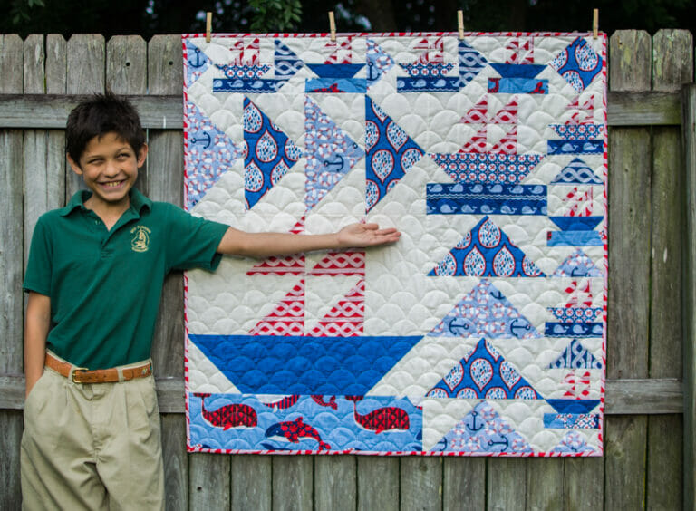 How to Sew a Sailboat Mini Quilt – Free Pattern