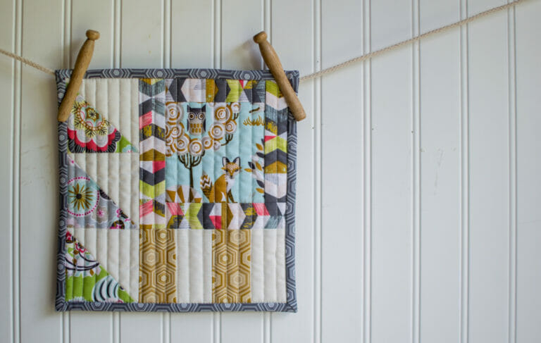 How to Design-Your-Own Mini Quilt – free tutorial