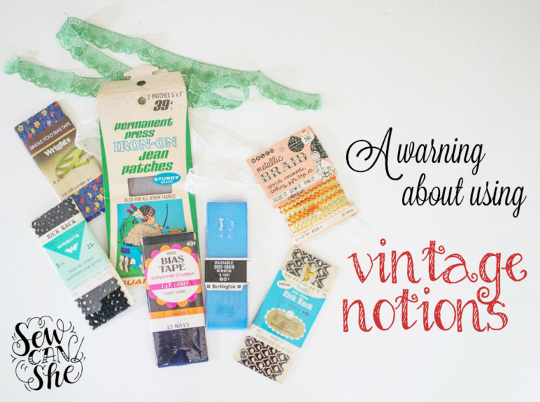 Terrible Tuesday: a warning about using vintage notions