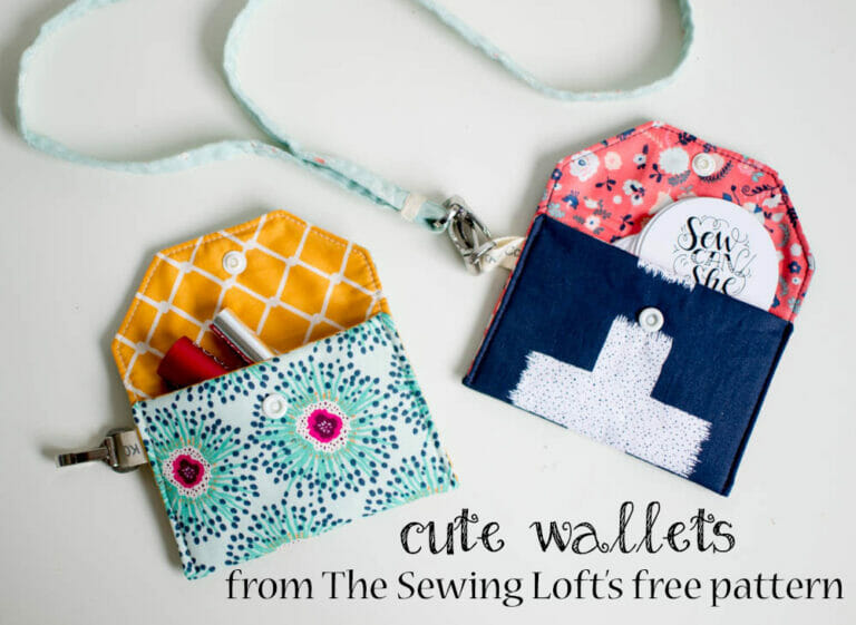 Sewing some cute little wallets on the fly!