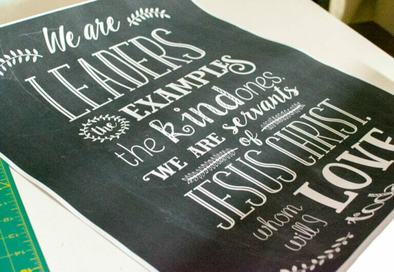 Free Chalkboard Printable for a Christ-Centered Back to School