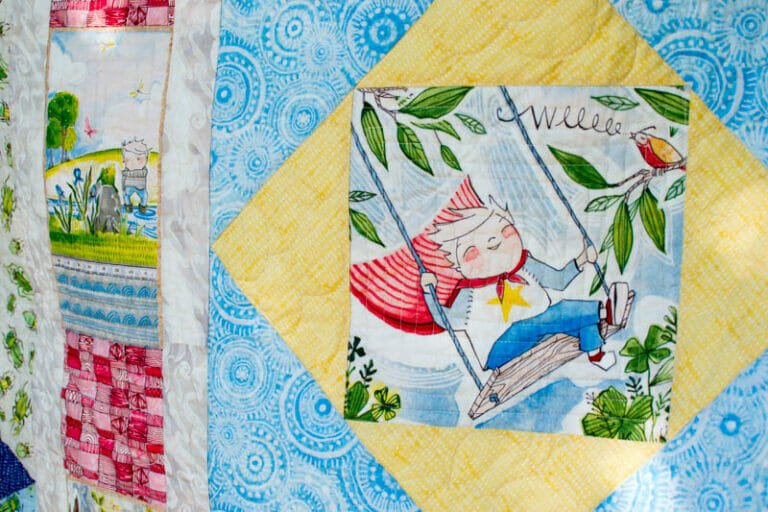 Show Off Saturday… 'Yay For The Boy!' Quilt Finish