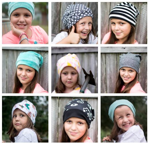 Have fun sewing cute 20 minute fleece beanie hats!