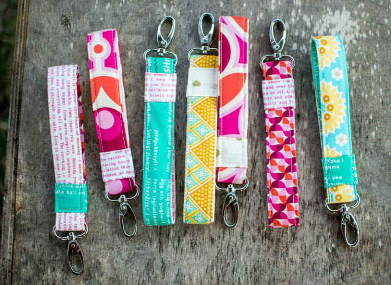 How to Sew Wrist Strap Keychains (free sewing tutorial)