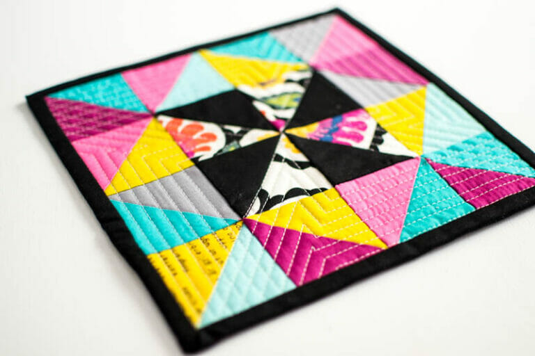 Color Value Tips with a Pinwheel Mini Quilt Pattern!