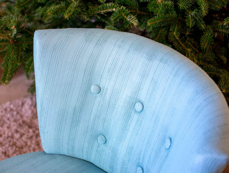 Emergency Upholstery Fix: Paint your fabric chairs!
