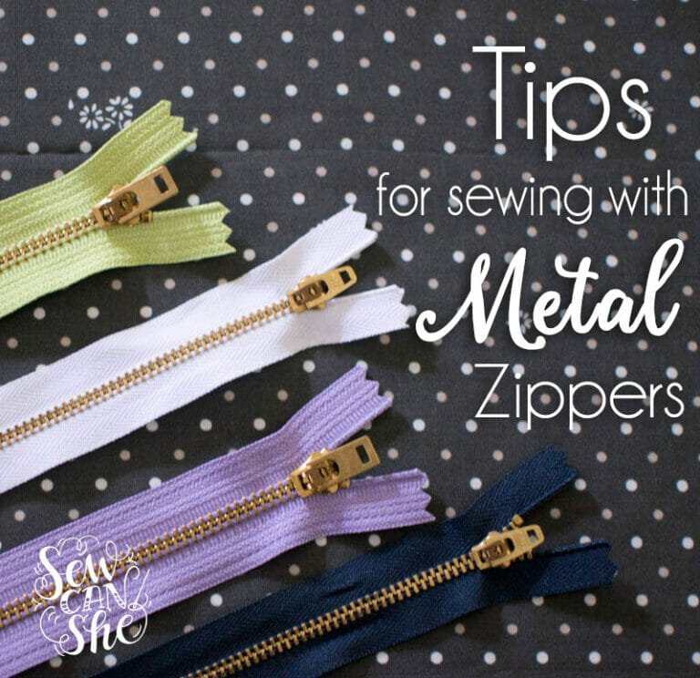 Tips for Sewing Metal Zippers – have no fear!