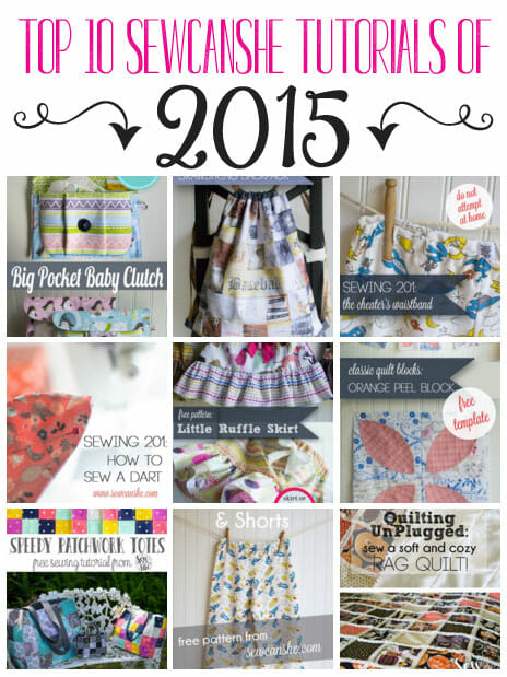 10 Most Popular SewCanShe Sewing Tutorials of 2015… All Free!