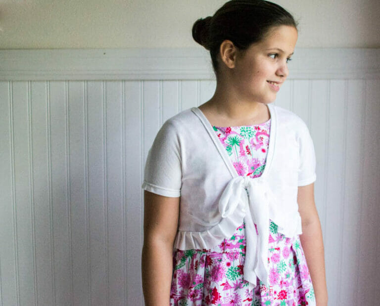 Show Off Saturday: sewing Chloe's Easter Dress early