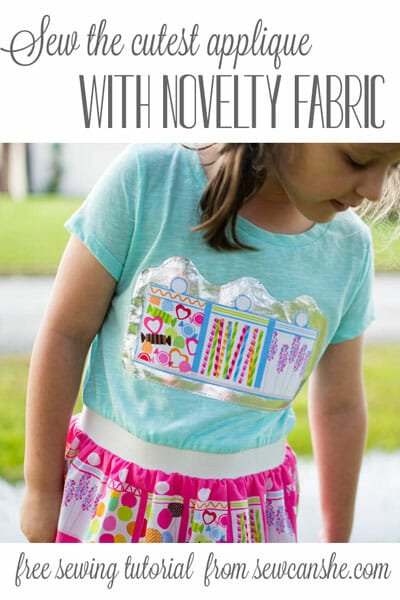 Sew the Cutest Applique with Novelty Fabric