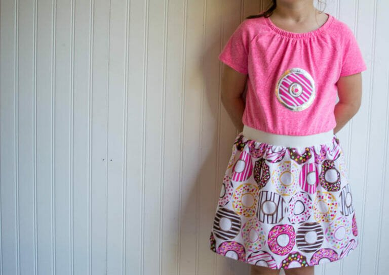 How to Sew Boutique T-Shirt Dresses – so cute and a little bit retro {free tutorial}