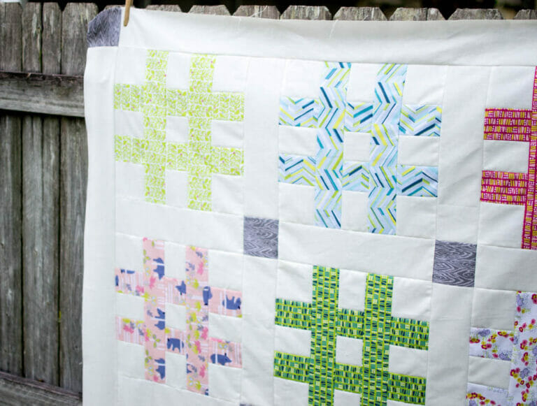 Sewing a Hashtag Quilt Top