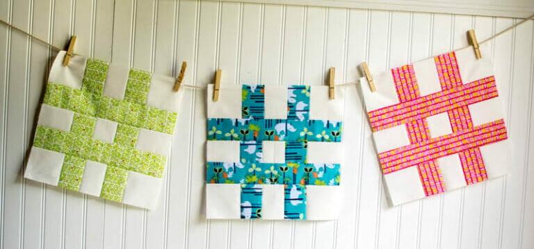 Easy Quilt Block Tutorial: The #Hashtag Quilt Block!
