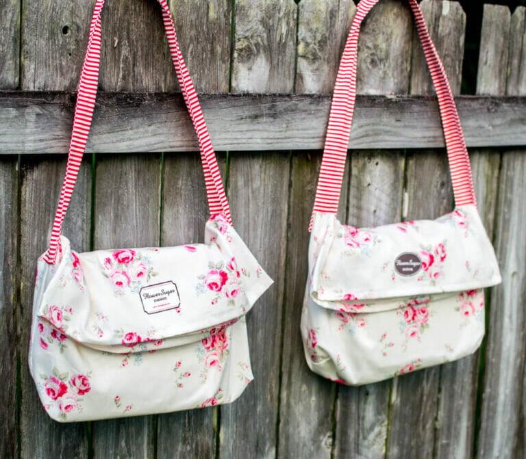 1 Yard Magic Messenger Bag from Lecien Fabrics {2 Bags!}