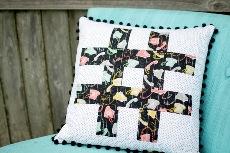 How to Sew a Pillow Cover From a Quilt Block
