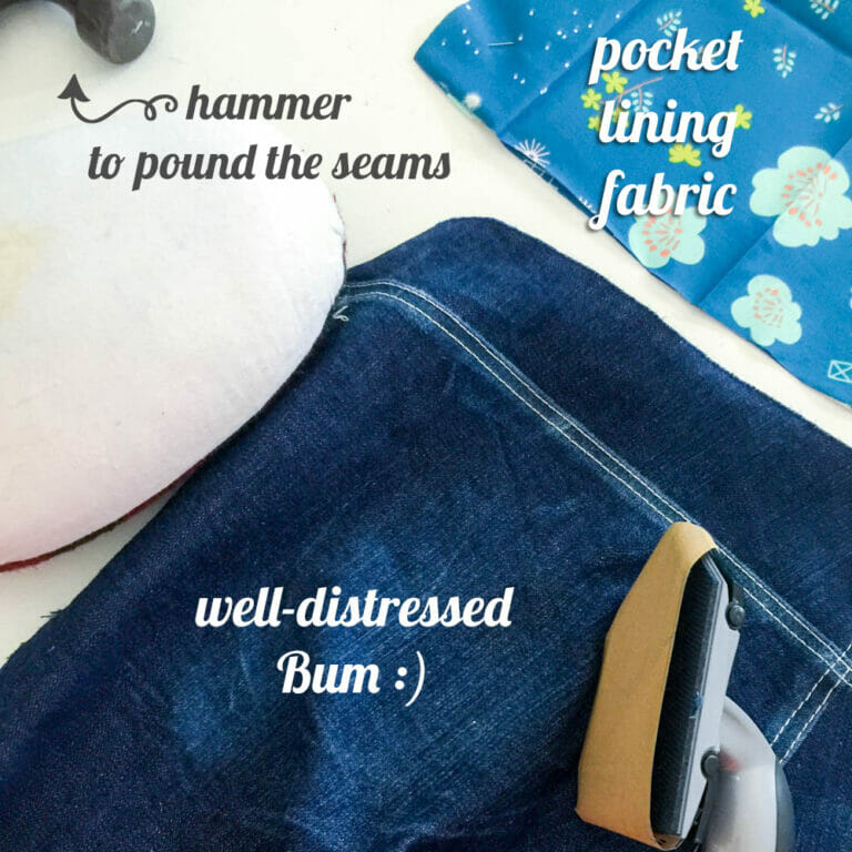 Sewing jeans for the first time!