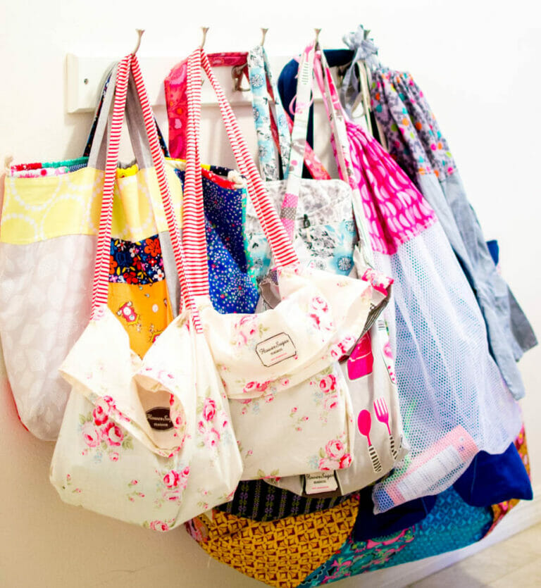 8 bag patterns I've sewn & shared this year!