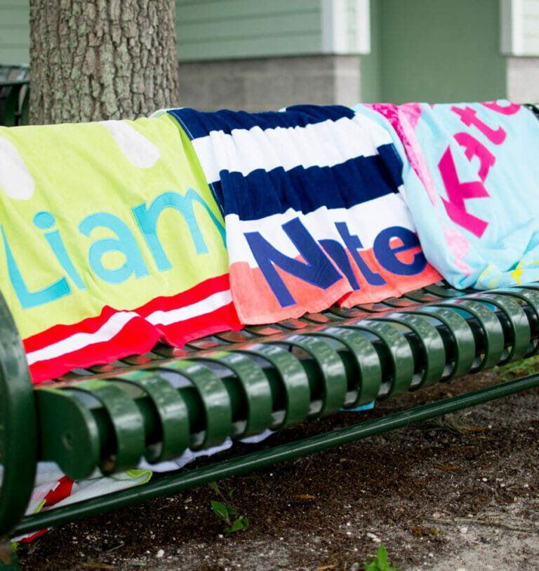 How to Sew DIY Personalized Beach Towels with Applique