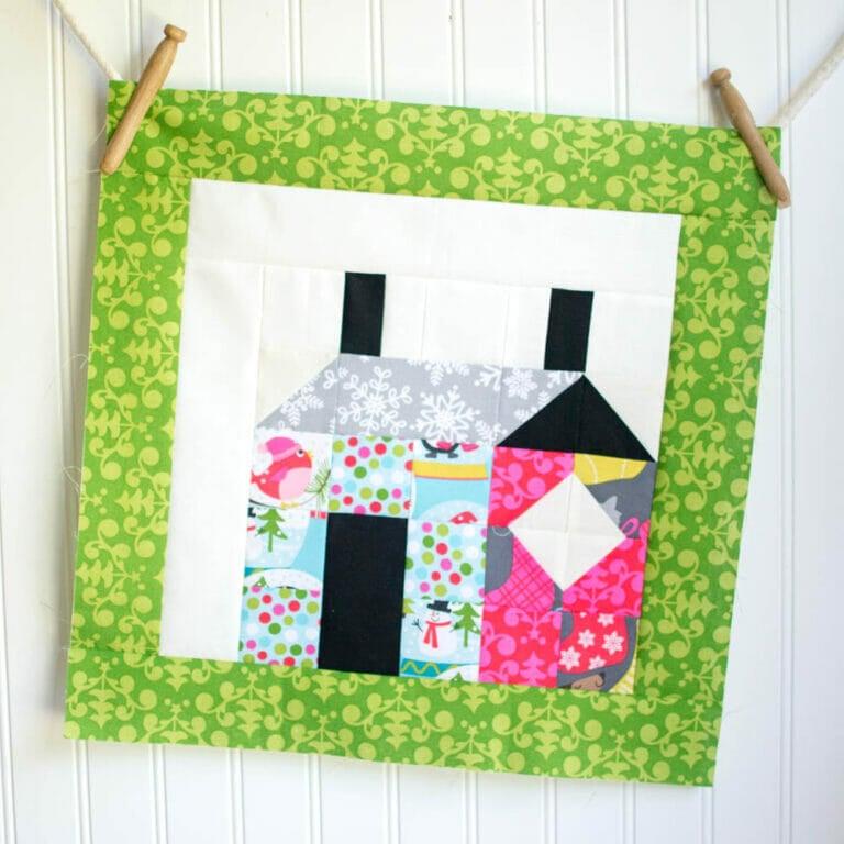 Easy Quilt Block Tutorial: Patchwork House Block!