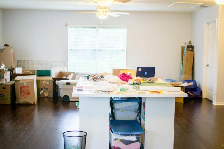 My beautiful sewing studio mess!
