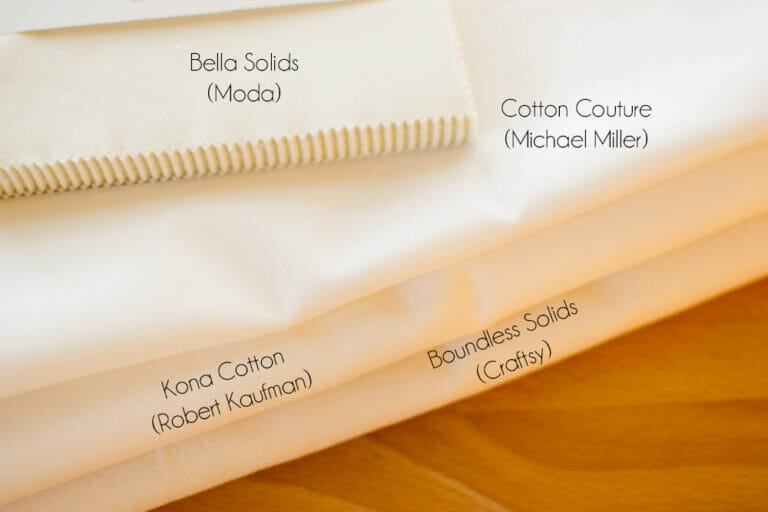 Comparing 4 Cotton Fabrics (color, texture, & sheen)