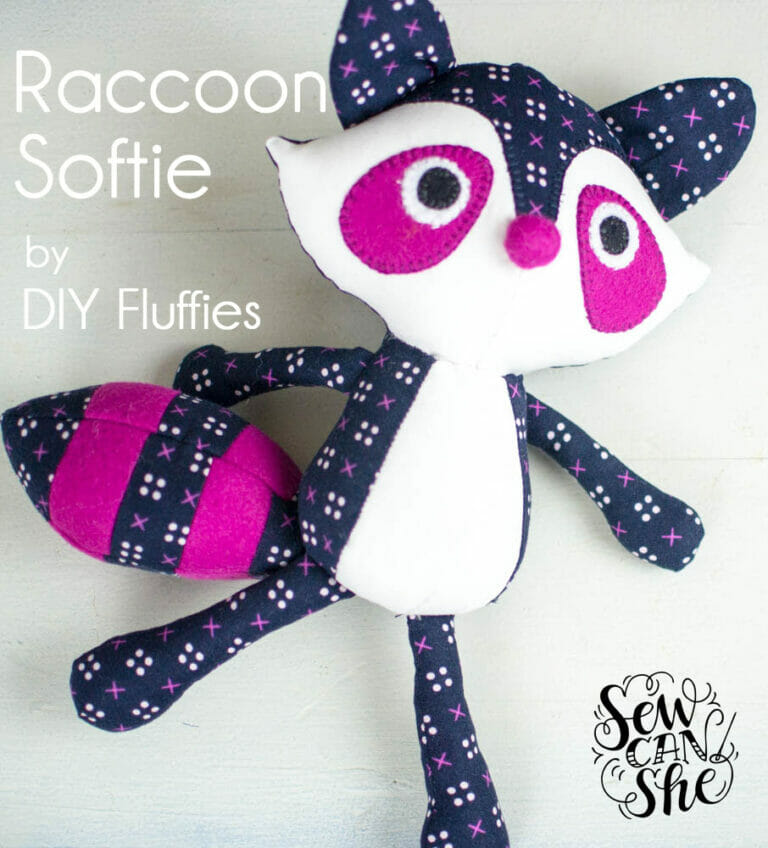 Pattern Review: the adorable Raccoon Pattern from DIYFluffies!